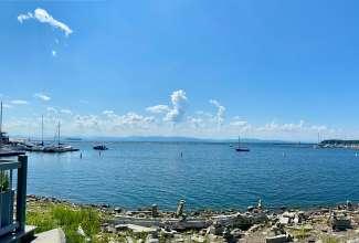 Het grootste meer wat doorloopt tot in Canada