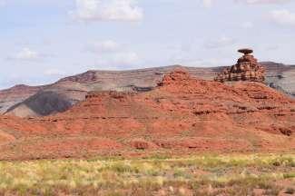 Een kleine woestijngemeenschap in de staat Utah