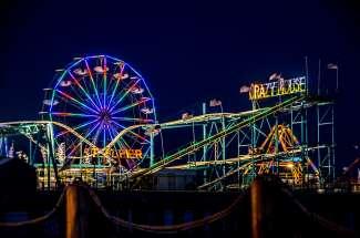 Attractiepark op de Atlantic City pier.