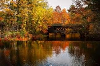 Schilderachtig landschap in Springfield, Massachusetts.