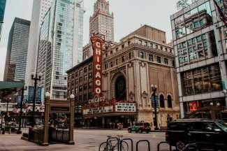 Gevels in het centrum van Chicago
