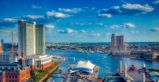 De haven van Baltimore
