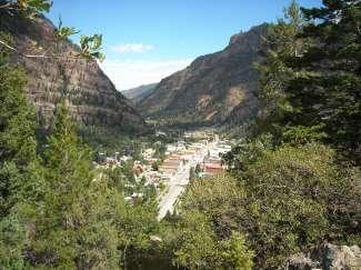 Uitzicht over het voormalige mijnwerkersstadje