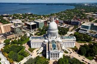 Het Wisconsin State Capitol is het hart van Madison.