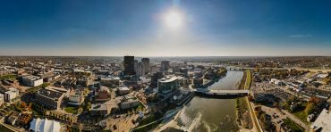 Dayton vanuit vogelvluchtperspectief