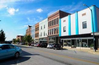 Het centrum van Springfield.